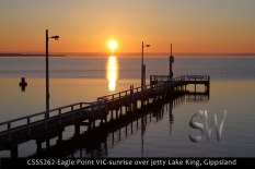 CSSS262-Eagle-Point-VIC-sunrise-over-jetty-Lake-King-Gippsland