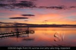 CSSS263-Eagle-Point-VIC-sunrise-over-jetty-Lake-King-Gippsland