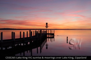 CSSS265-Lake-King-VIC-sunrise-&-moorings-over-Lake-King-Gippsland