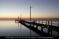 LR118-Eagle-Point-VIC-sunrise-over-jetty-on-Lake-King-Gippsland