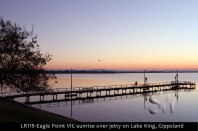LR119-Eagle-Point-VIC-sunrise-over-lake-on-Lake-King-Gippsland