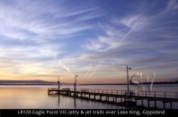 LR120-Eagle-Point-VIC-jetty-&-jet-trails-over-Lake-King-Gippsland