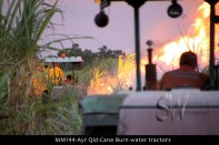 MM144-Ayr-Qld-Cane-Burn-water-tractors