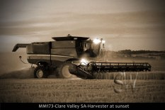 MM173-Clare-Valley-SA-Harvester-at-sunset