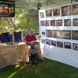 B & Jeda at my market stall in Dunsborough
