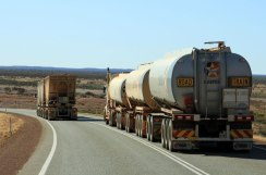 Roadtrains near Meekathara