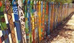 Colourful front fence in Nannup SW WA