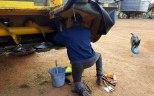 B doing running repairs on cutter