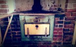 Old stove in a shack near Hyden