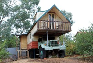 Unusual accommodation at Melrose