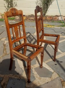 Two of my half stripped chairs