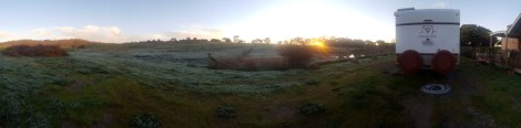 Panorama on frosty morning