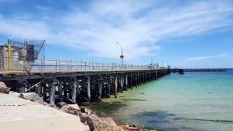 Day trip to Kadina market so had a drive on to Wallaroo Jetty