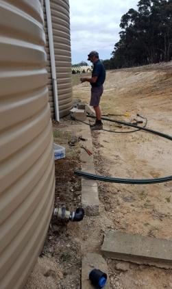 B doing some plumbing