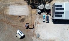 Aerial of work in progress