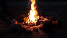 Campfire with friends Birdsville common