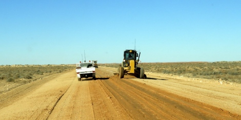 Two graders on Birdsville track after significant rainfall