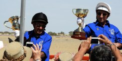 The Melbourne Cup joined the Birdsville Cup for a lap of honour