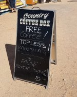 Coffee vendor with a sense of humour