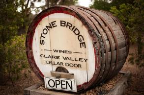 Stone Bridge - barrel at entrance