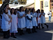 Moonta-Cornish children dressed in period garb