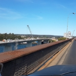 The Non Bendy Bridge being built in Grafton