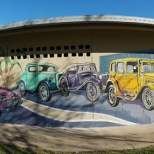 Pano of mural Jabour Park, Sth Grafton