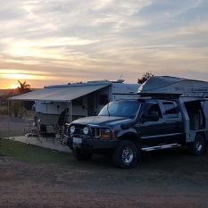 Our campsite at van park