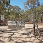 Gate entrance to Yarrawonga Park Reserve