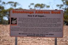 Stonehenge Address Book sign