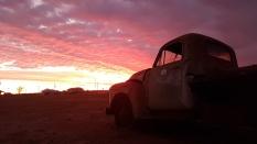 Yaraka sunset over Chevy